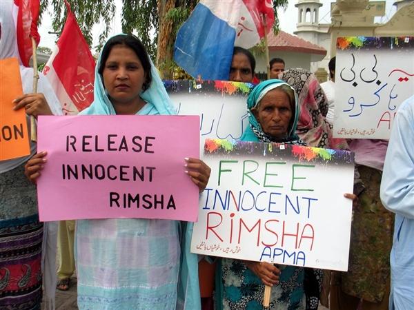 Christenverfolgung in Pakistan - 2012 - Rimsha Masih . Islamabad