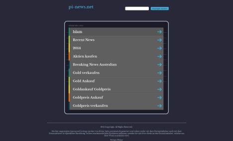 Fehlerstartseite auf pi-news.net